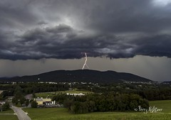 Lightning Branches Blue Ridge Roanoke County (Terry Aldhizer) Tags: lightning branches daytime thunderstorm storm brew brewing roanoke county blue ridge mountains sky clouds rain weather terry aldhizer wwwterryaldhizercom