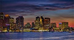 20160903-195010_00-BRKT_Boston_HDR (Ernest Kim) Tags: boston eastboston landscape moon night outdoor skyline sunset