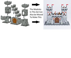 1 Kingdoms Modular Castle Creator smaller square (michaelkalkwarf) Tags: lego modular castle legomodularcastle kingdomsmodularcastlecreator kingdomsmodularcastle