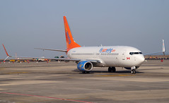 Sunwing 737-86J(WL) C-FWGH. 17/08/16. (Cameron Gaines) Tags: avgeek planemad aviation plane aircraft airliner man bfs belfast international us cfwgh canada germany dabmc air berlin tegal keflavik boeing field bfi usa toronto yyz pearson tenerifesouth sunwing leased thomson 73786jwl taxiing after arriving from belfastinternational another charter flight iceland 737 737800 airwas