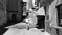 Cagliari, quartiere Villanova - 2016 (Radioprivas) Tags: biancoenero monocromo strada people urban life woman streetphotography cagliari iphone blackandwhite