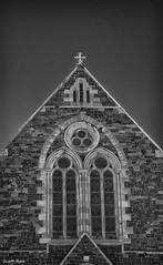 Week 33 - Window (Scotty Rae) Tags: infrared church peebles scotland tweeddale ir bw blackwhite monochrome religion symmetry symmetrical building