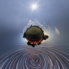 A Day in the Astro Camp (Gyrgy Soponyai) Tags: nightphoto nightfoto tarjn hungary sun startrails lp little planet littleplanet astrophotography