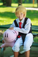 IMG_8412 (firecloak) Tags: sevendeadlysins nanatsunotaizai cosplay meliodas boy hawk pig