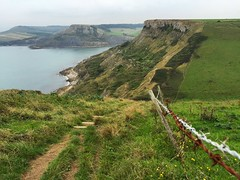 South West Coast Path (Marc Sayce) Tags: st albans aldhelms head chapmans pool dorset isle purbeck jurassic coast swcp south west path barbed wire