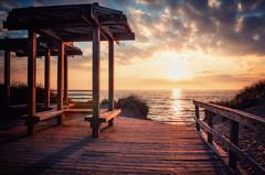 Being There (Bobby Palosaari) Tags: lakemichigan beach boardwalk clouds lake lakeshore outdoors park sky sunset water