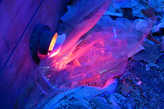 Plastic flame (naama) Tags: blue pink light colors garbage