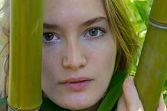 Caitlin (austinspace) Tags: woman portrait seattle washinton blond blonde muse beauty garden arboretum park black