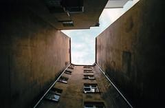 Wrocaw, Poland. (wojszyca) Tags: contax g2 zeiss biogon 21mm fuji fujicolor c200 urbex urban city housing yerd decay wrocaw