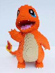 LEGO Charmander (dm_meister) Tags: lego charmander pokmon pokemon go cartoon flame type tail nintendo niantic sculpture basic bricks plates orange tan darkazure white black hitokage