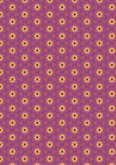 Pink flower pattern (jinterwas) Tags: texture pattern free freetouse cc creativecommons wallpaper background achtergrond behang pink yellow blue roze geel blauw bloem flower patroon