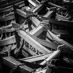 Maroc - Les barques d'Essaouira (Gilles Daligand) Tags: essaouira maroc barques peche pecheurs graphisme noiretblanc wb monochrome