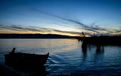 Boating until the night falls (Giorgos.siat) Tags: ioannina giannina giannena epirus pamvotis greece ellada hellas water waterscape boat fishing fish boating cruising cruise waterfront lonely γιαννινα γιαννενα ιωαννινα night sunrise sunset lake lakeside lakefront sky nikon nikonphotography wave nature outdoor outdoors clouds cloudscape cloud sun exposure dark d3200 dusk dawn landscape island limni λιμνη παμβωτιδα ηπειροσ βαρκα βαρκαρησ boatman τοπιο topio παμβωτισ