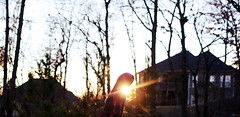 (Mary Jo.) Tags: trees houses light canon rebel 50mm hoodie mj jacket manual xs f18 maryjo goldenhour expansion