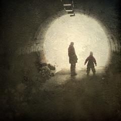 In a Tunnel (Explore, 8th January, 2013) (Raf...) Tags: people underpass tunnel digitalartwork texturesquared galleryoffantasticshots besteverdigitalphotography □squarefotografiasparaenmarcar□1006