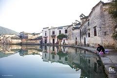 Village Life :: Hongcun (), Anhui (), China (bgfotologue) Tags: life china street winter mountain snow huangzhou village shanghai shot snapshot snap    washing    huangshan