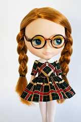 Nerdy Dark Plaid Dress