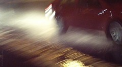 (rafalweb (moved)) Tags: red motion blur color apple wet water car rain movement availablelight vehicle splash noise raining iphone photoscape