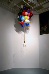 Untitled      Balloon, Rope.     Installation, Video.     Size available