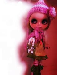 Peyton in pink shadows