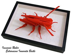 Monstrous Red Plated Beetle (Bart De Dobbelaer) Tags: bug lego beetle ironbuilder