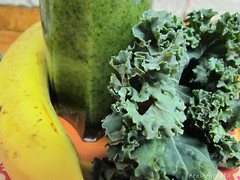 Fruit & Kale Smoothie (RootsRunDeep) Tags: food fruit healthy banana smoothie kale recipie nutrition
