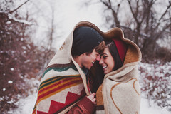 blanket in the snow (Dylan H0well) Tags: winter red snow love happy engagement heart idaho boise blanket