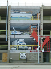 Where is that dozy horse? (Steve Taylor (Photography)) Tags: street city sleeping red newzealand christchurch horse streetart car st manchester graffiti boat mural tank yacht tram mini canterbury un lorry nz gloucester southisland cbd tick carpark buggy cruiser articulated flintstones pram multistory dozing zzzs ken1 designteam redzone chrisfinlayson saariysqualitypictures deanblundell