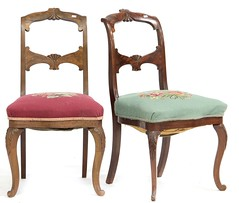 56. Pair of American Victorian Side Chairs
