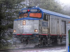 Amtrak Downeaster (Littlerailroader) Tags: railroad train publictransportation massachusetts newengland trains andover amtrak transportation locomotive trainspotting locomotives railroads passengertrains commutertrains andovermassachusetts amtrakdowneaster