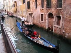Gondola, Venice, Italy (mandyhedley) Tags: old bridge venice italy water buildings ruins canals gondola sighs gondolas
