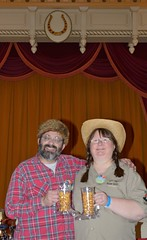 Barry and Karen at the Golden Horseshoe Revue (Barry Wallis) Tags: california usa disneyland anaheim dl dlr disneylandresort barrywallis goldenhorseshoerevue karenwallis d23sorceror