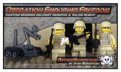 Modern Military LEGO Minifigs & TALON Robo (Josh Bernstein) Tags: afghanistan 6x6 modern soldier war force lego military iraq eod armor minifig protection cougar ied tactical mrap brickarms jerrv tinytactical