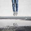 J is for Jump (YetAnotherLisa) Tags: reflection puddle jump parkinglot converse chucks ashpalt harderthanitlooks