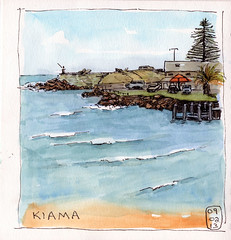 Kiama (quirkyartist) Tags: seascape watercolour kiama lamysafari