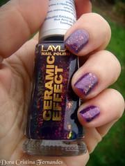 Layla CE 52 (Dora Cristina Fernandes) Tags: glitter nagellack nails nailpolish layla unhas esmalte naillacquer purplenailpolish artisticnails vernizes esmalteroxo vernizroxo