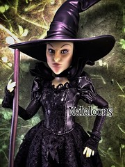 Wicked Witch of the West (Nataloons) Tags: black west green hat movie store doll skin witch oz great disney wicked powerful chin broom pointed uploaded:by=flickrmobile flickriosapp:filter=nofilter