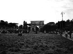 P2180360 (alteredeye) Tags: bw italy rome roma amphitheatre pantheon colleseum romanforum romanruins ancientrome collosseo amphitheatrumflavium