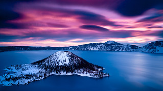 Cloudy Day Sunrise | Crater Lake, Oregon