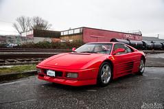 Ferrari 348TB (Dylan King Photography) Tags: red canada wheel vancouver graffiti nikon driving bc interior side rear stock columbia ferrari front dash british rims v8 tb gearbox 348 berlinetta dogleg d90 34l autoform autoformcoca