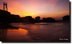 Redhead Sunrise (liipgloss) Tags: ocean sky reflection beach water silhouette sunrise newcastle waves australia redhead 1740l newastle redheadbeach sharktower 5dii
