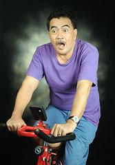 Felix the ooooppsss! (Don Abrenica) Tags: portrait man happy nikon felix uncle nikkor cls stationarybike funnyguy d300s sb700 2485vr