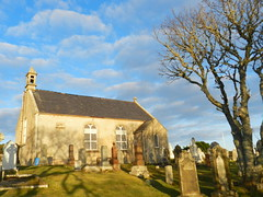 Berriedale Parliamentary Church and Graveyard, Berriedale, Sutherland, January 2013, Explored #91 (allanmaciver) Tags: blue trees sky church graveyard community thomas january cost parliament william historic telford thomson remote simple sutherland engineer 1826 effective berriedale desig 2013 pariamentary allanmaciver