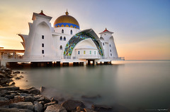 virtuous (azrudin) Tags: city travel light sea vacation sky panorama sun reflection art beach nature water silhouette rock stone architecture sunrise landscape island photography mirror lowlight nikon cityscape slow jetty wave tokina1224 mosque filter malaysia slowshutter nightshots dri minimalist melaka masjid goldenhour scapes graduated exposures waterflow longexposures digitalblending 10stop graduatedfilter bw110 sifoocom gnd09 d7000 bw1000 azrudin