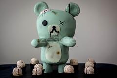 Rilakkuma Zombie Cake (zestee) Tags: cake teddy zombie teddybear brains rilakkuma