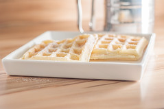 Waffeln (karjul) Tags: food brown white cookies yellow studio march essen nikon gelb meal pastry flashlight braun waffles waffle mrz waffel waffeln gebck weis blitzlicht d90 nahrungsmittel explored 2013 mygearandme blinkagain gebckstck