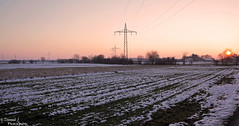 Goodbye Winter. ( Dominik J. Photography) Tags: winter sunset red orange cold ice yellow germany mnchen landscape deutschland colours sunny pancake 40mm dslr karlsfeld 5dmarkii dominikjakob