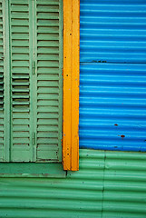 untitled (la boca - buenos aires, argentina) (bloodybee) Tags: street blue urban house building green window americalatina southamerica argentina colors lines yellow wall architecture facade buenosaires shutters caminito