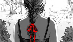 braid (Dun) Tags: red art girl hair sketch drawing picture ribbon braid braidhair dzun