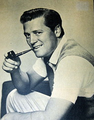 Vintage Photo of Pipe Smoker, 1940s - 1950s Era, Likely Gordon MacRae (France1978) Tags: smoking pipesmoker smokingpipe tobacciana tobaccopipe gordonmacrae mensmokingpipes